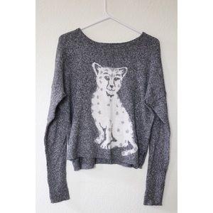 Hollister Cheetah Cat Sweater
